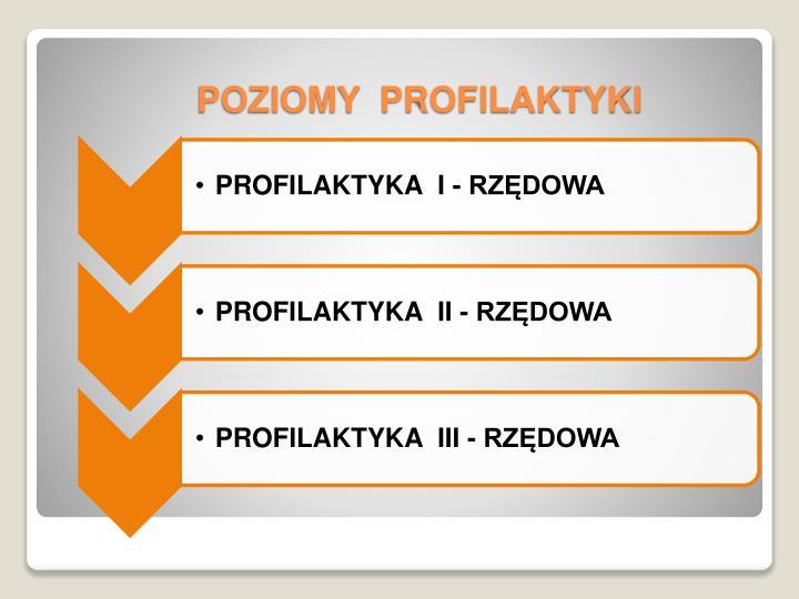 POZIOMY  PROFILAKTYKI