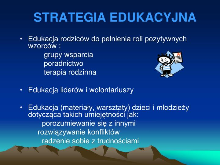 STRATEGIA EDUKACYJNA