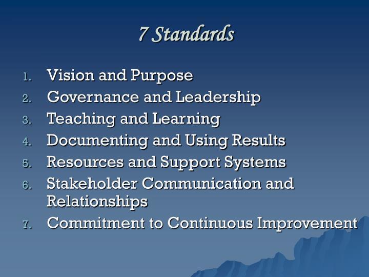 7 Standards