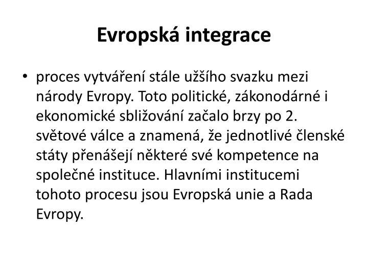 Evropsk integrace