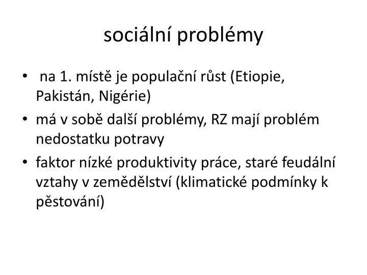 sociln problmy
