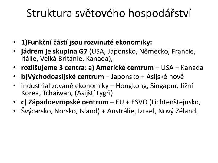Struktura svtovho hospodstv