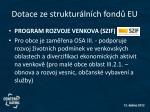 dotace ze struktur ln ch fond eu1