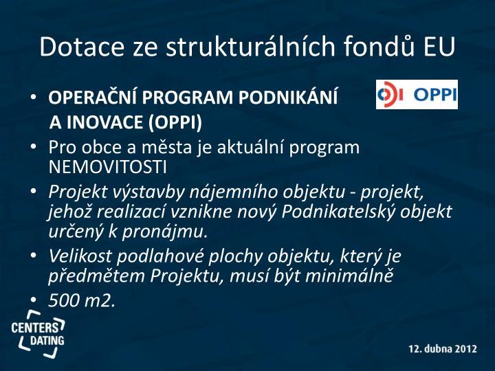 Dotace ze strukturálních fondů EU