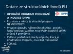 dotace ze struktur ln ch fond eu3