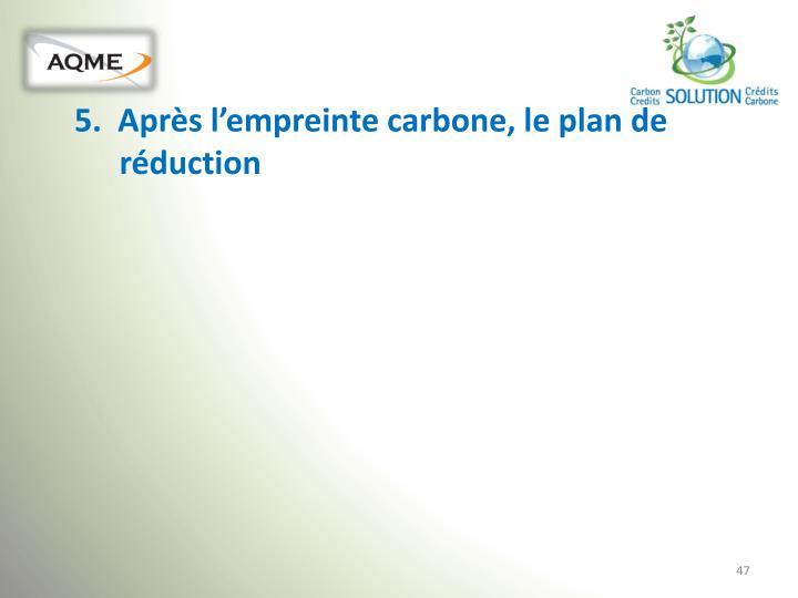 5.  Après l'empreinte carbone, le plan de réduction