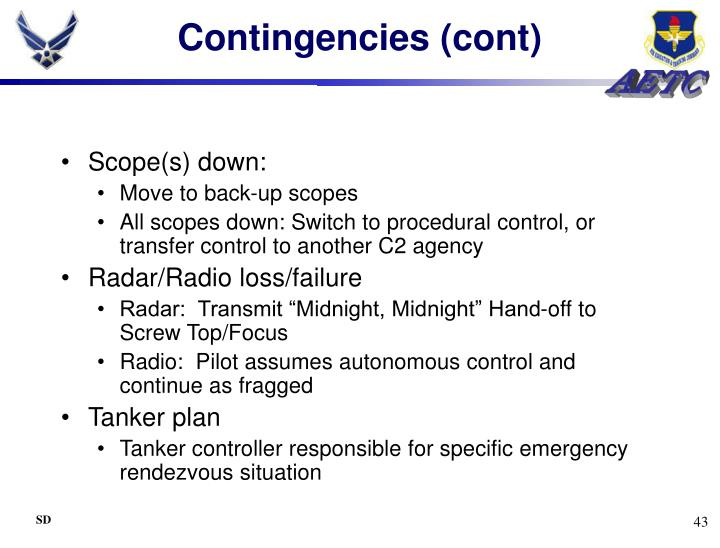 Contingencies (cont)