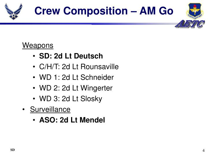 Crew Composition – AM Go
