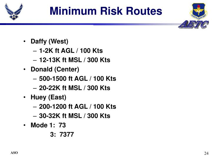 Minimum Risk Routes