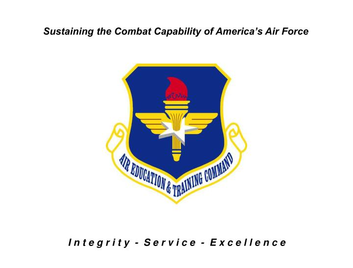 Sustaining the Combat Capability of America's Air Force
