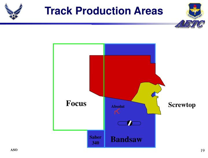 Track Production Areas