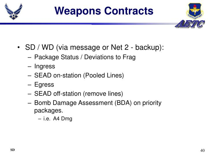 Weapons Contracts