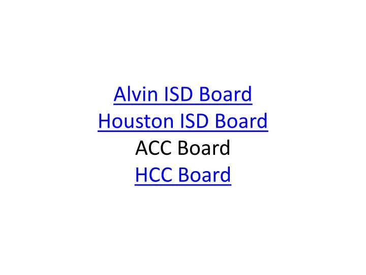 Alvin ISD Board