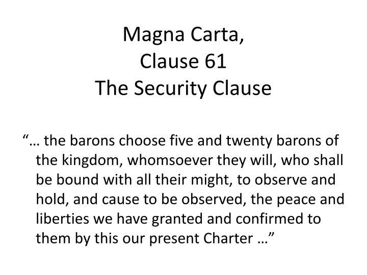 Magna Carta,