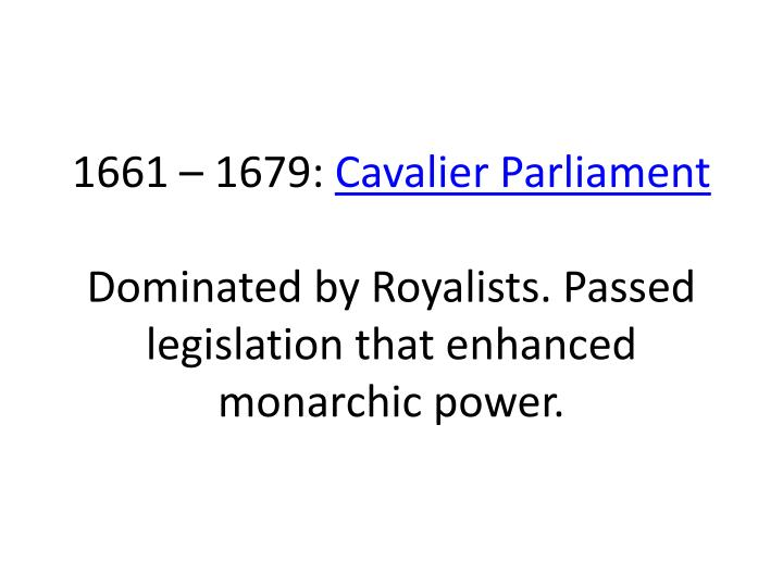 1661 – 1679: