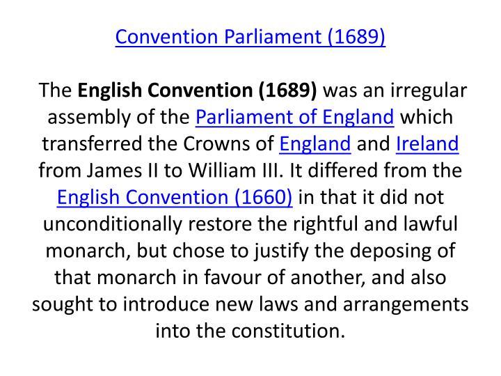 Convention Parliament (1689)
