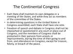 the continental congress1