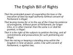 the english bill of rights