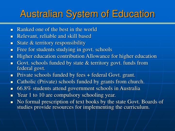Australian System of Education