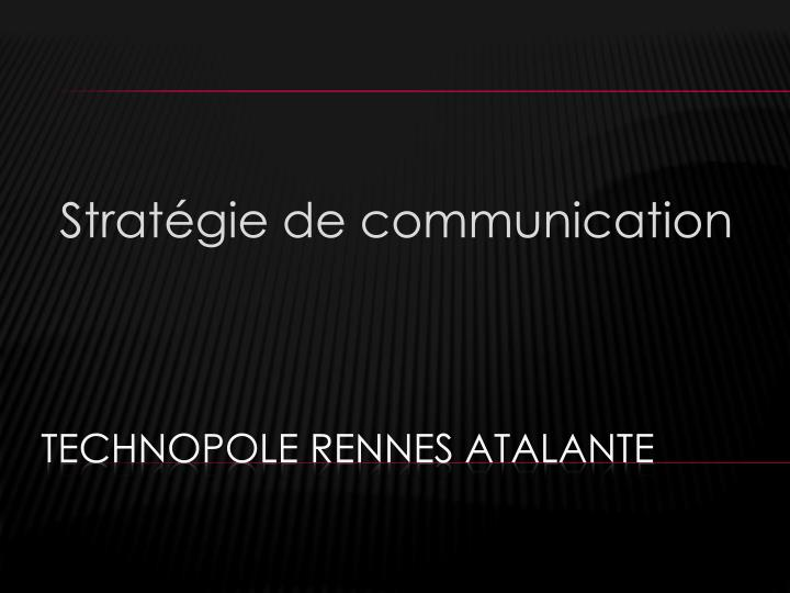 Strat gie de communication