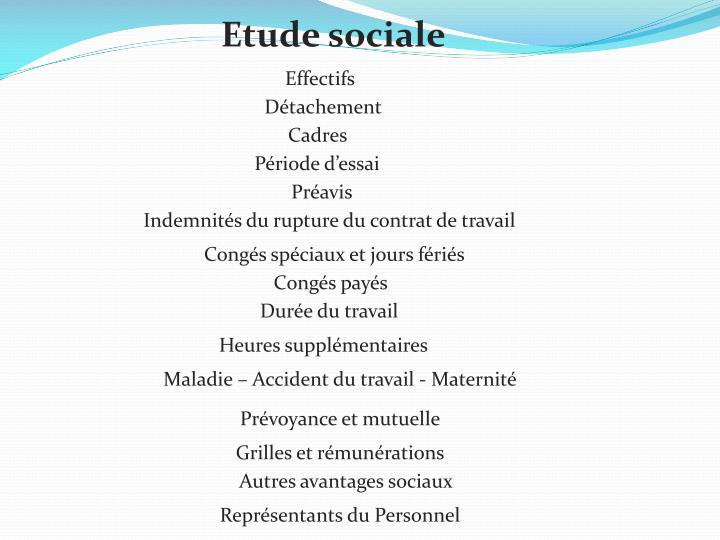 Etude sociale