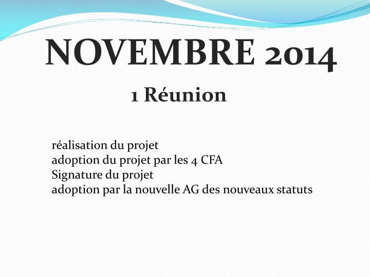 NOVEMBRE 2014
