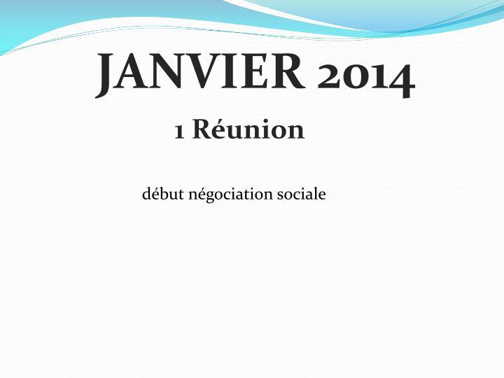 JANVIER 2014