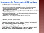 language a assessment objectives