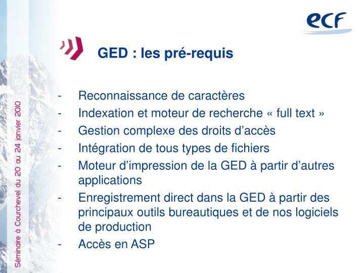 GED : les pré-requis