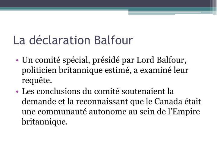 La déclaration Balfour