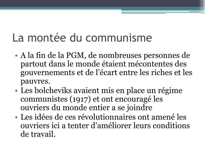 La montée du communisme