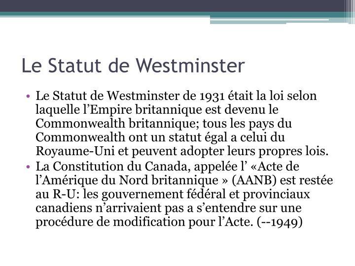Le Statut de Westminster