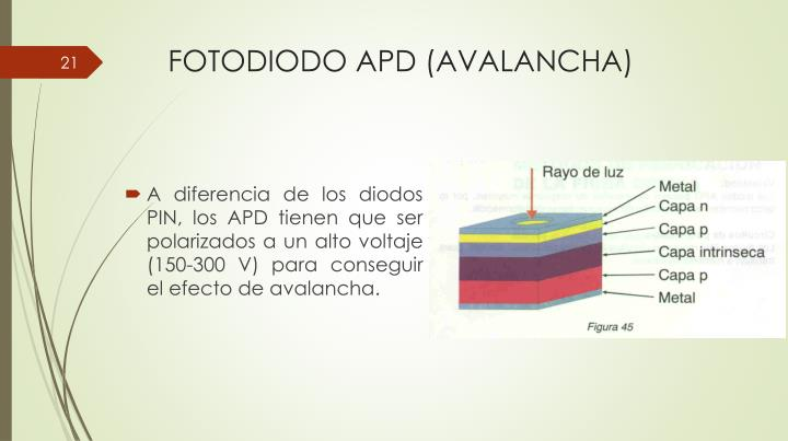 FOTODIODO APD (AVALANCHA)