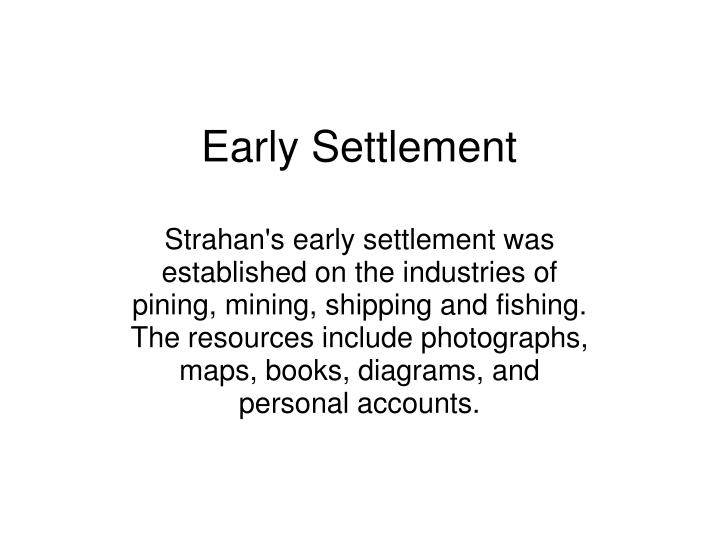 Early Settlement
