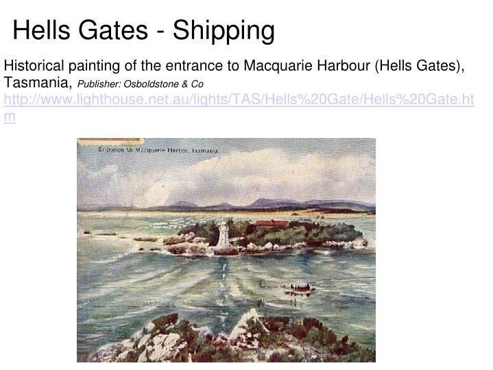 Hells Gates - Shipping