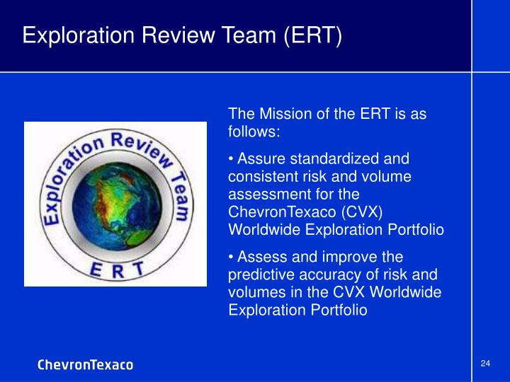 Exploration Review Team (ERT)