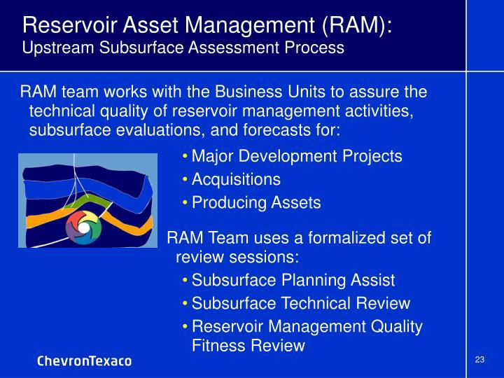 Reservoir Asset Management (RAM):