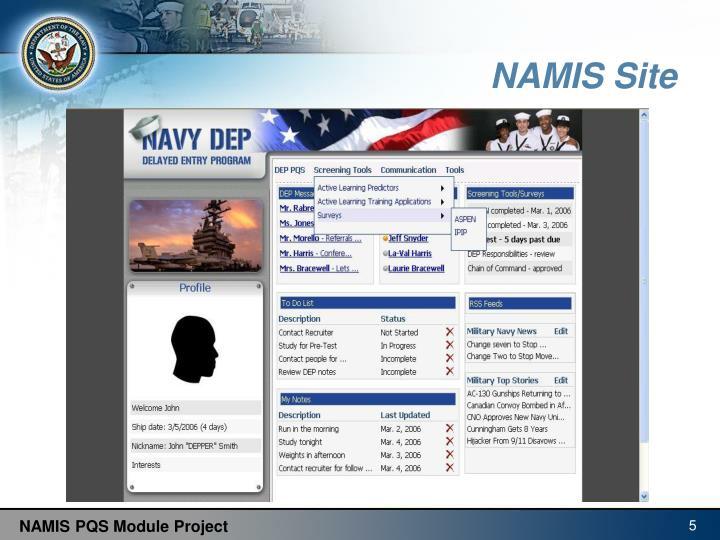 NAMIS Site