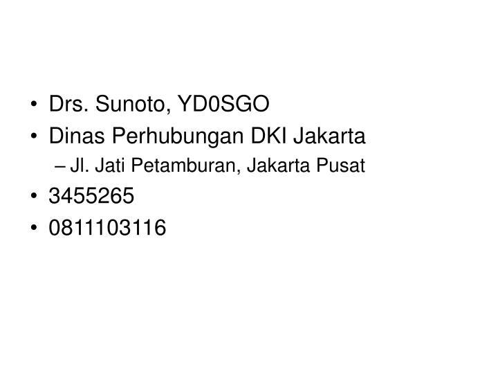 Drs. Sunoto, YD0SGO