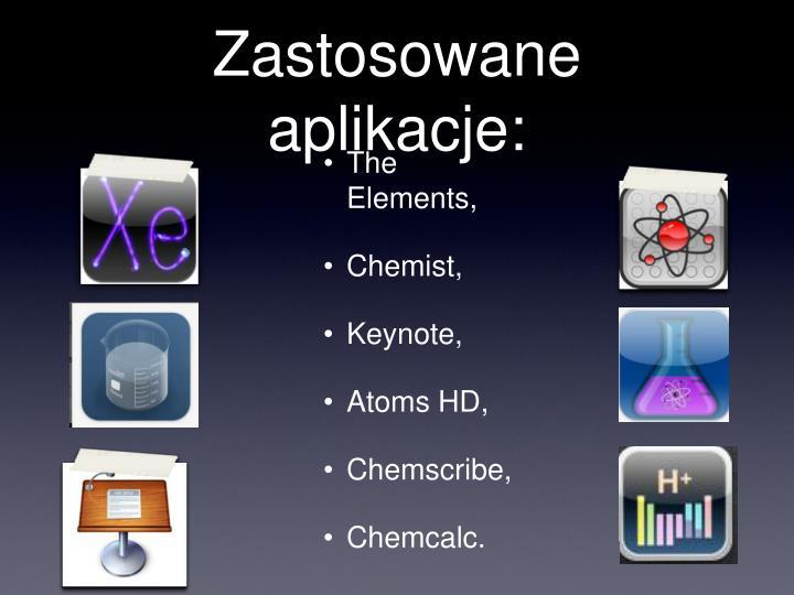 Zastosowane aplikacje: