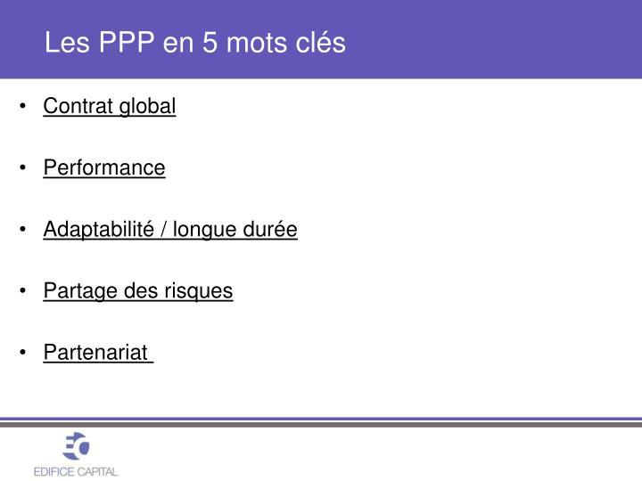 Les PPP en 5 mots clés