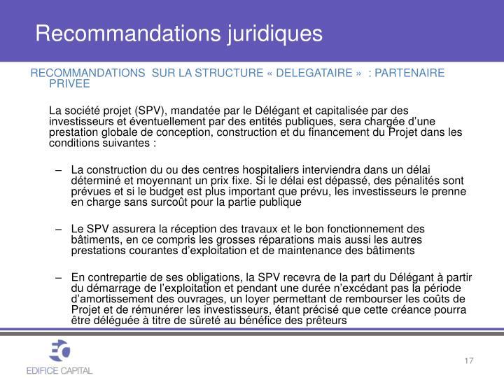 Recommandations juridiques