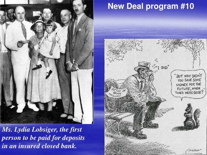 New Deal program #10