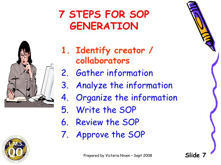 7 STEPS FOR SOP GENERATION