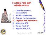 7 steps for sop generation3