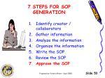 7 steps for sop generation6