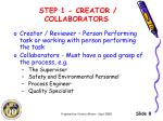 step 1 creator collaborators