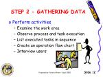 step 2 gathering data2