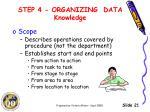 step 4 organizing data knowledge1