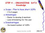 step 4 organizing data knowledge2
